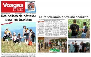Vosges article balise de détresse, randonnée en toute sécurité - Vosges.